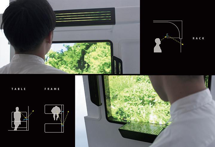 移動時間の楽しみ方の研究<br />-車窓を拡張する鉄道インテリアの提案-